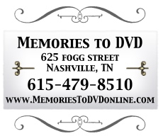 Memories to DVD, 625 Fogg Street, Nashville TN 37203, 615-479-8510